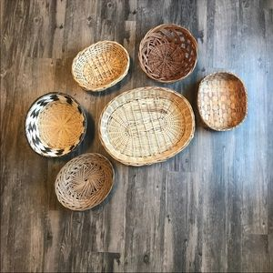 Vintage Accents - Boho Baskets Wall